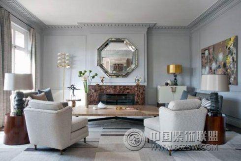法式风格家居-客厅装修效果图-八六(中国)装饰联盟
