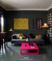 暗色简约公寓设计