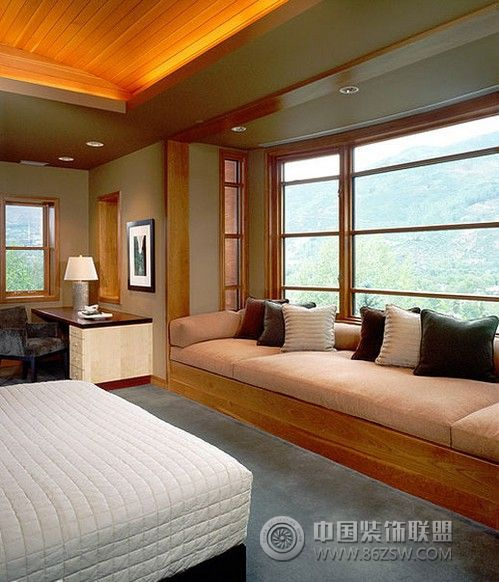 齐窗小卧榻设计-卧室装修效果图-八六(中国)装饰联盟