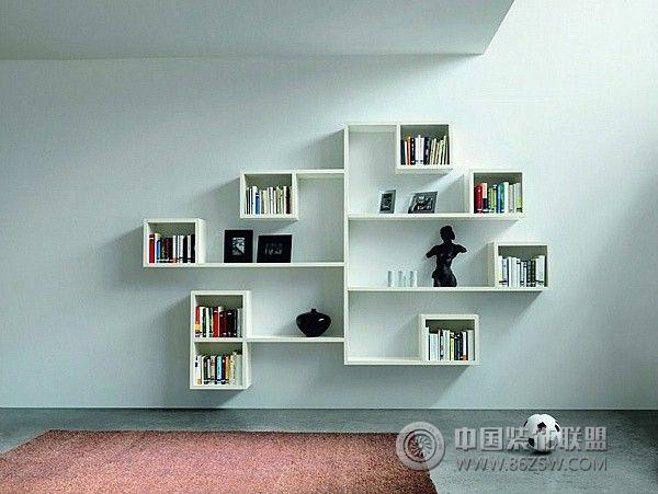 创意实用物品架设计-书房装修效果图-八六(中国)装饰