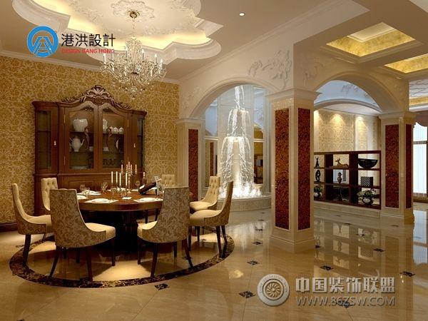 豪华室内装修欧式拱门效果图片-香碧歌别墅