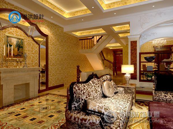 香碧歌别墅-客厅装修效果图-八六(中国)装饰联盟装