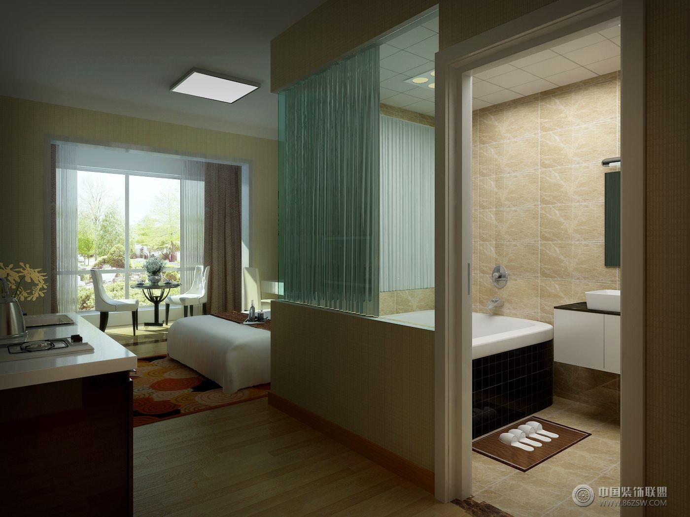 酒店式公寓01整套大图展示_简约公寓装修效果图_八六图片