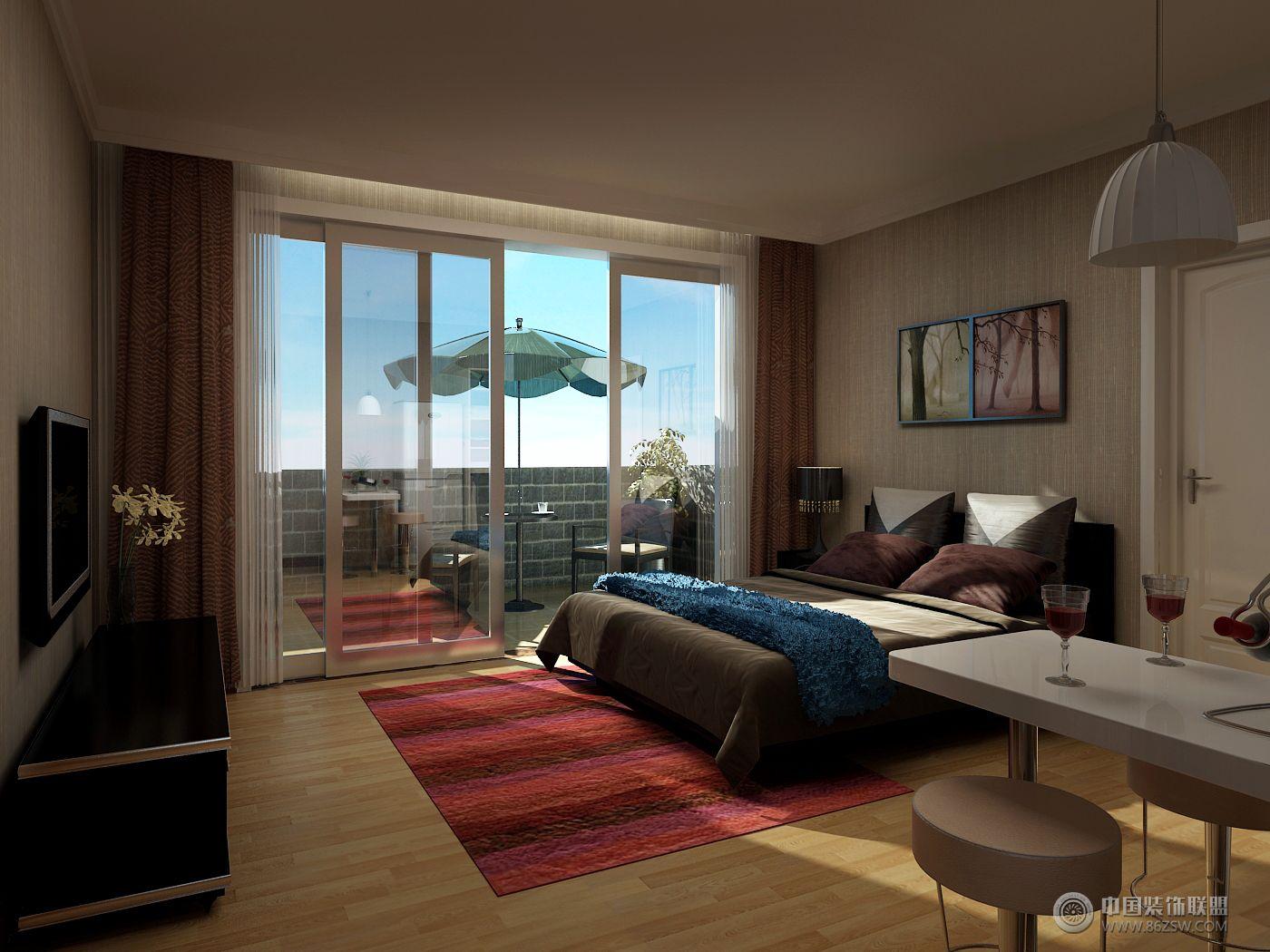 酒店式公寓04简约卧室装修图片图片