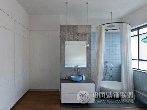 创意浴室设计案例_现代装修效果图_八六(中国)装饰图