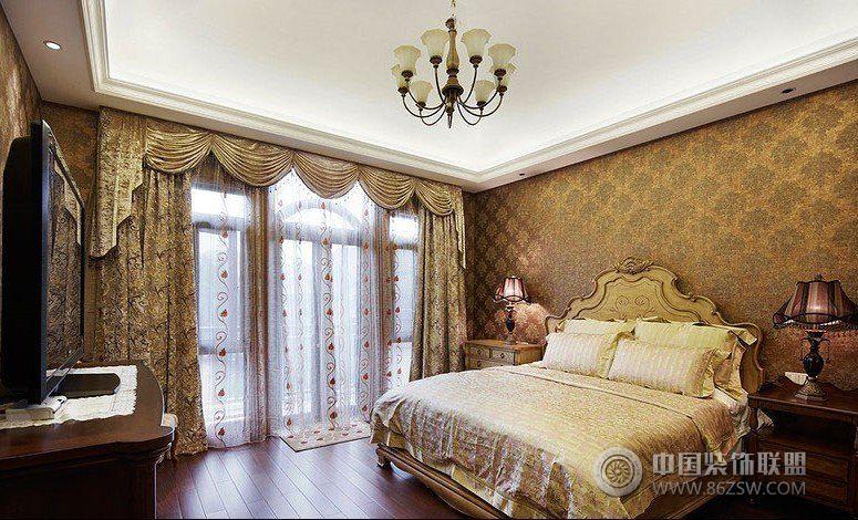 300平美式婚房别墅-卧室装修图片