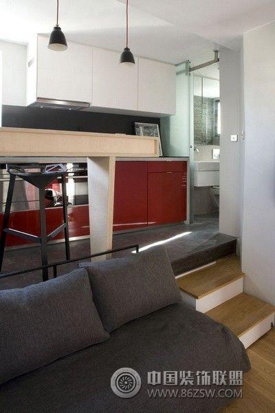巴黎迷你16平米小公寓欧式装修图片