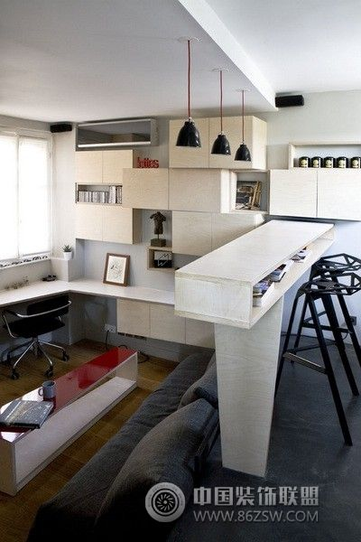 巴黎迷你16平米小公寓 整套大图展示 欧式风格装修效果图 八六装饰网