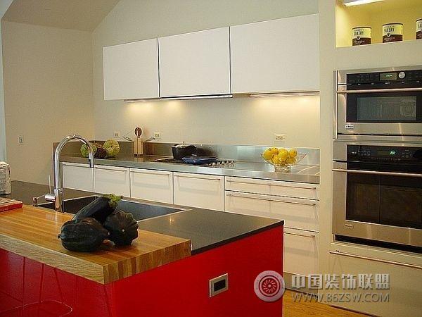 时尚摩登厨房设计_现代大户型装修效果图_八六(中国)