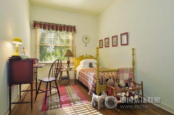 美國鄉村別墅-臥室裝修效果圖-八六(中國)裝飾聯盟