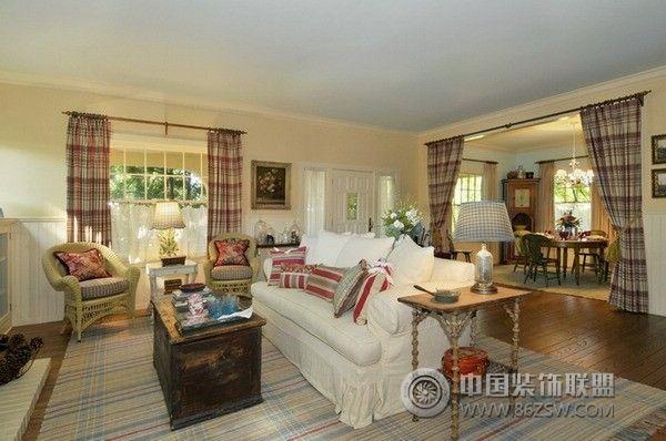 美國鄉村別墅美式客廳裝修圖片