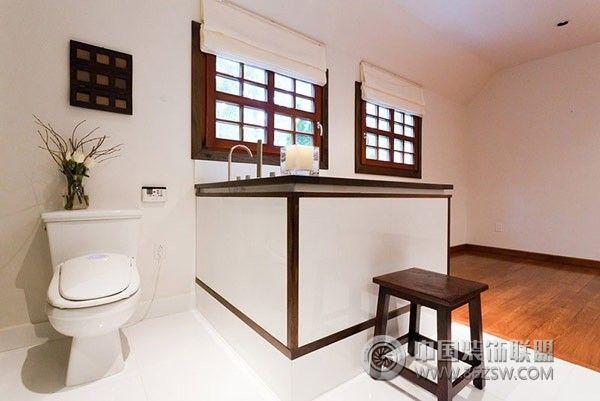 木结构住宅混搭卫生间装修图片