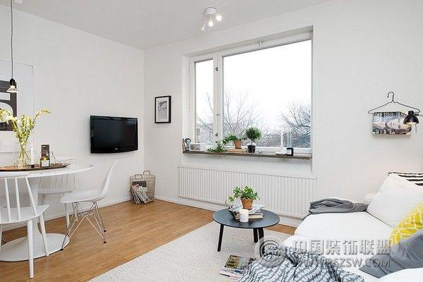 42平米北欧风格小公寓-客厅装修效果图-八六(中国)