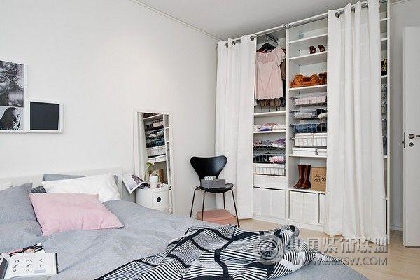 42平米北欧风格小公寓 简约风格装修效果图 八六装