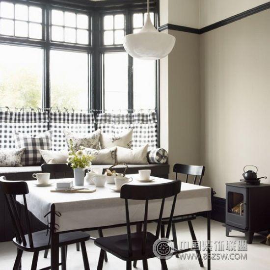 黑白餐厅经典设计 客厅装修效果图