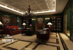 成都尚层装饰案例——城南官邸欧式风格别墅