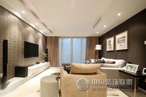 120平奢华典雅美简约客厅装修图片
