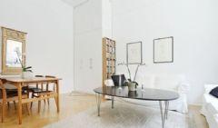 37平米的白木单身公寓北欧风格