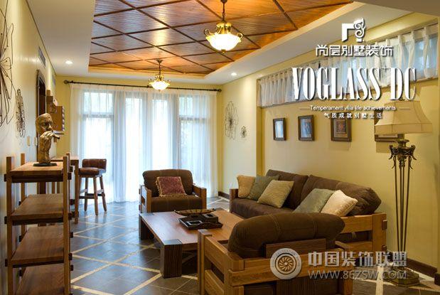 美式鄉村風格歐式客廳裝修圖片