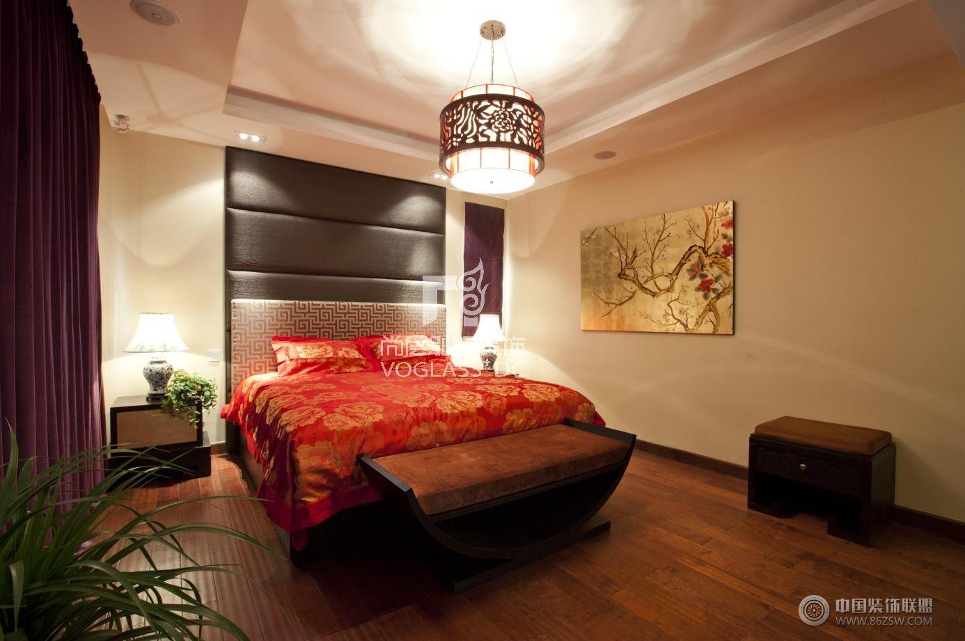中式风格卧室装修效果图