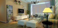 三居室户型简约地中海设计