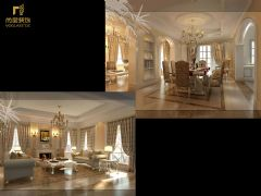成都尚层装饰别墅设计案例欧式风格别墅