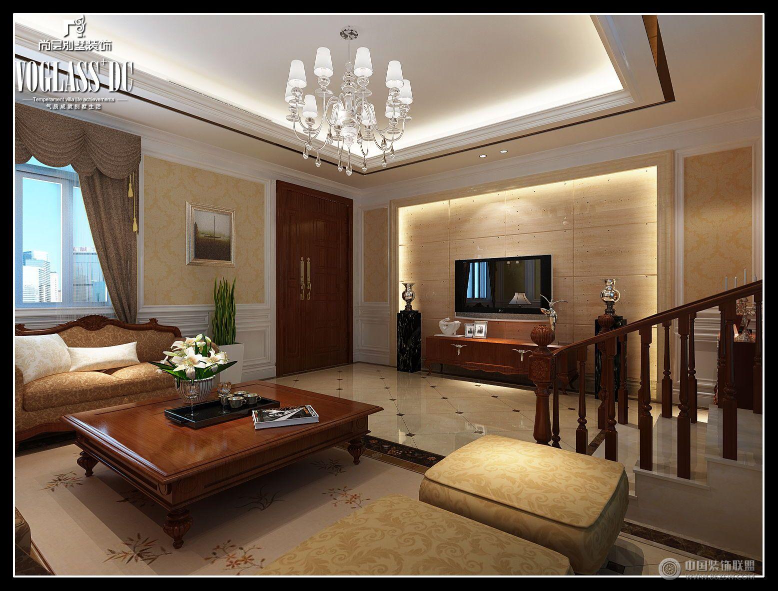 中海独墅岛-客厅装修效果图-八六(中国)装饰联盟装修