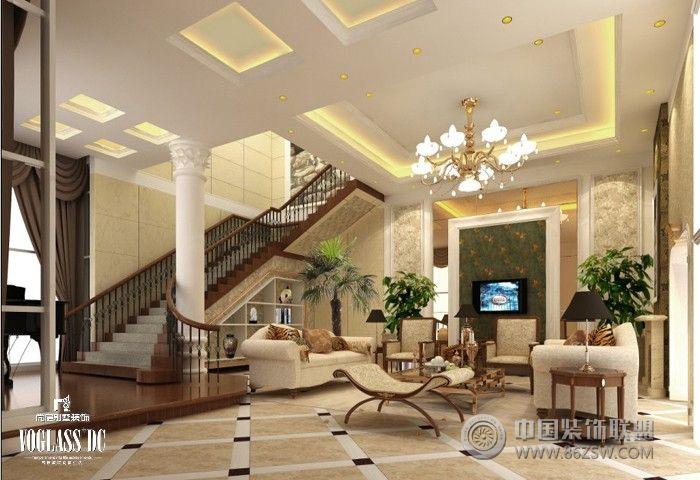 混搭风格客厅装修效果图图片