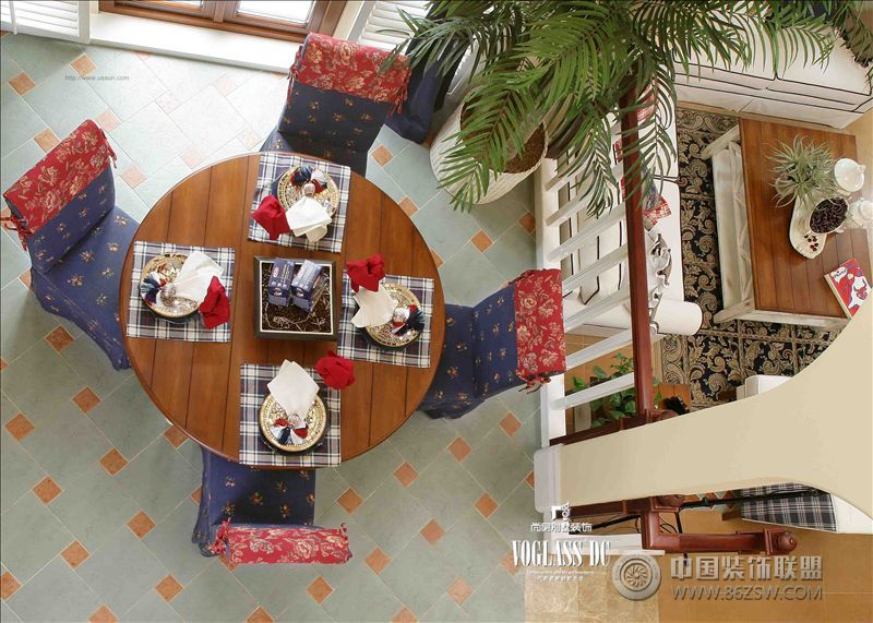 别墅装修效果图 尚层装饰 地中海风格 270平米四居室装修