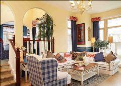 成都后花园-地中-成都尚层装饰地中海风格复式