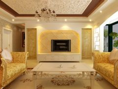丰庆佳苑三居室现代风格欧式风格三居室