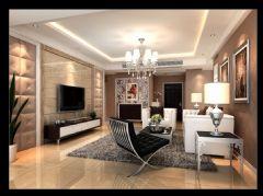 江滨小区现代风格三居室