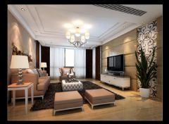 城北新村现代风格三居室