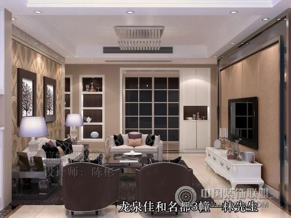 龙泉小区欧式客厅装修图片