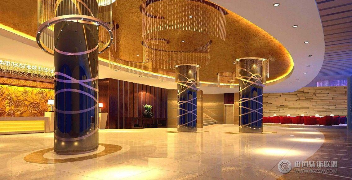黄金海岸大酒店欧式客厅装修图片
