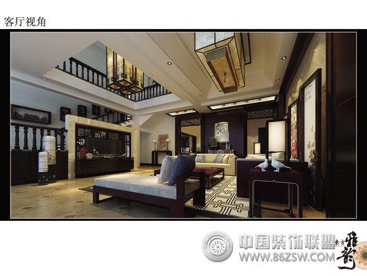 自建别墅中式客厅装修图片