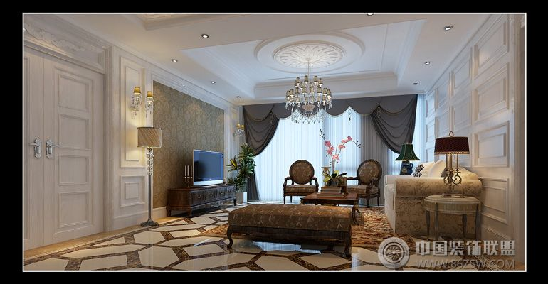 金色屋顶-整套大图展示-风格装修效果图-八六装饰网图片