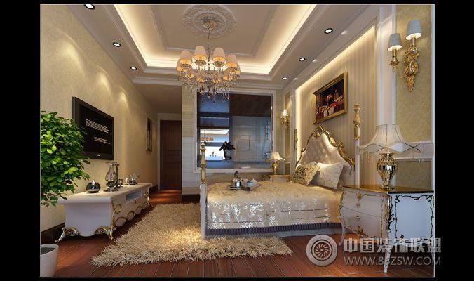 湘江豪庭欧式卧室装修图片