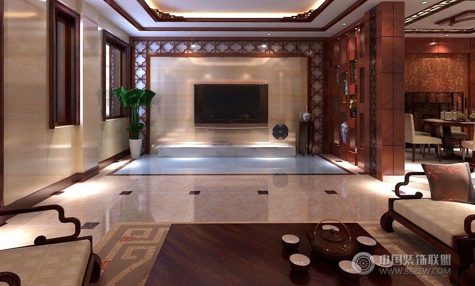 大同别墅-客厅装修效果图-八六(中国)装饰联盟装修