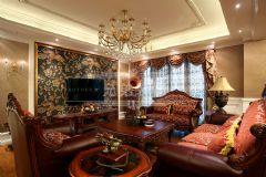 保利江上明珠美式风格三居室