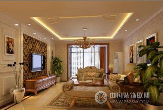 长安山麓欧式客厅装修图片