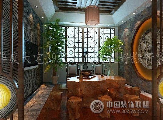 简中式风格_中式三居室装修效果图_八六(中国)装饰(86