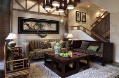 舒适豪华设计中式风格二居室