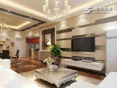 保利香槟国际现代风格三居室