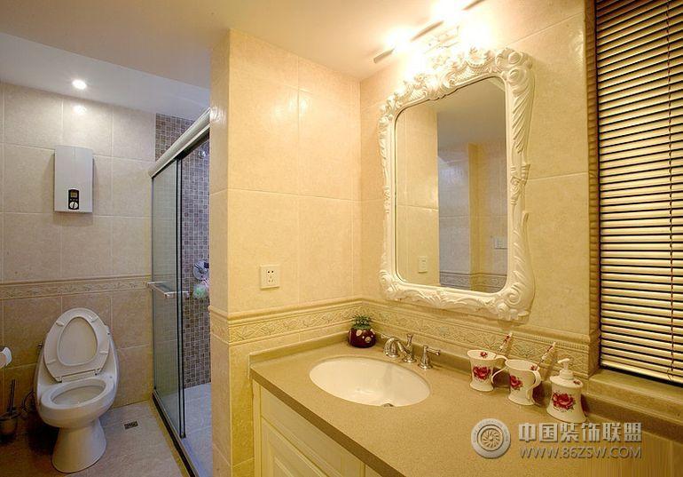 田园风格设计案例-卫生间装修图片