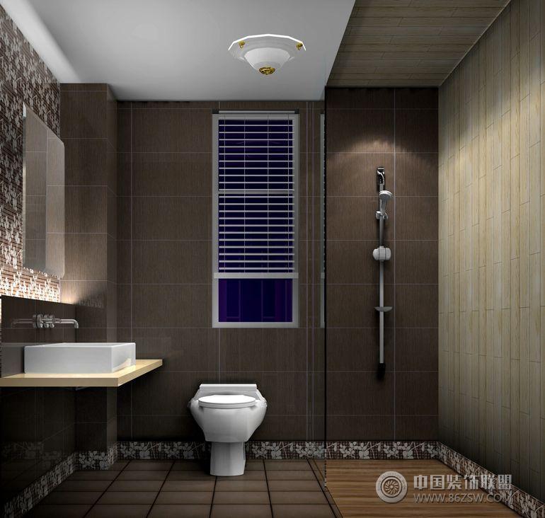 现代简约风格-卫生间装修效果图-八六(中国)装饰联盟
