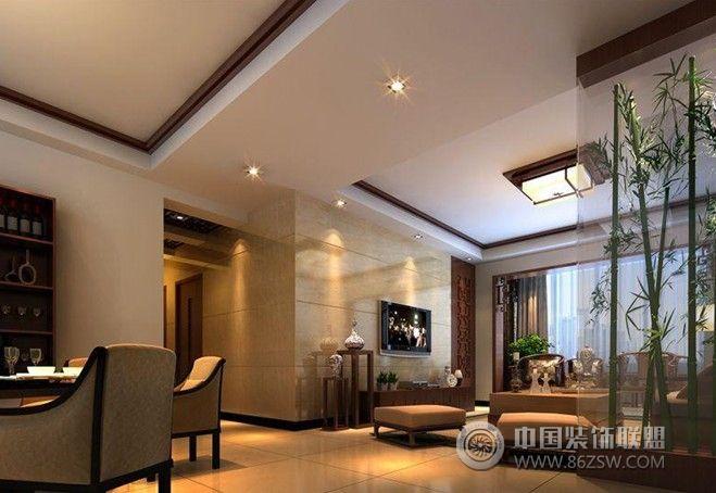 双湾国际中式客厅装修图片