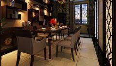 骏景花园中式风格三居室