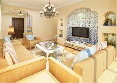 银都景苑地中海风格三居室