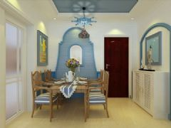 中海国际社区-三居室-107平米-装修设计地中海风格三居室